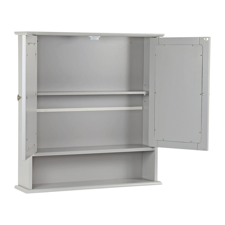 Grey-Wooden-Bathroom-Cabinet-Shelf-Cupboard-Bedroom-Storage-Unit-Free-Standing thumbnail 21