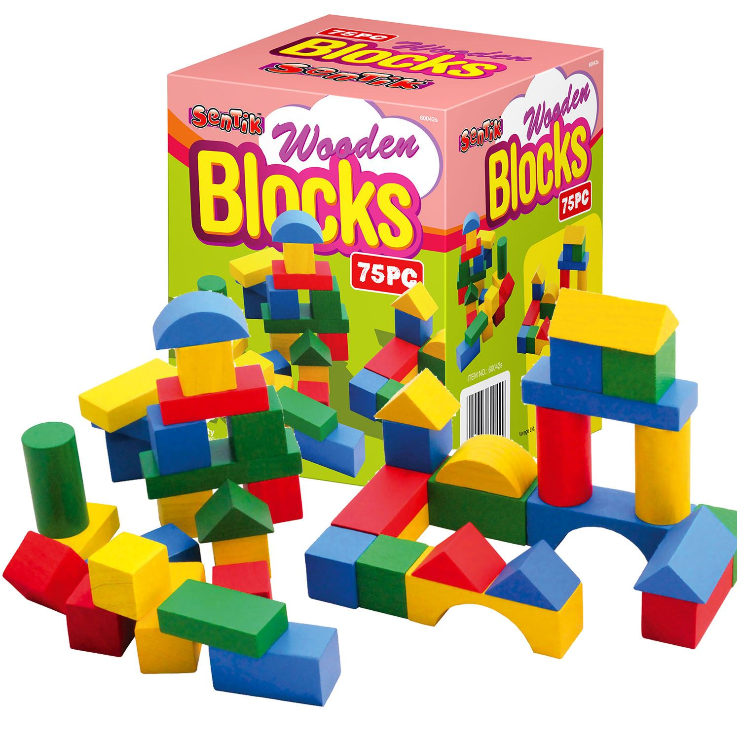 Building Construction Toys : Childrens wooden building blocks kids construction toy