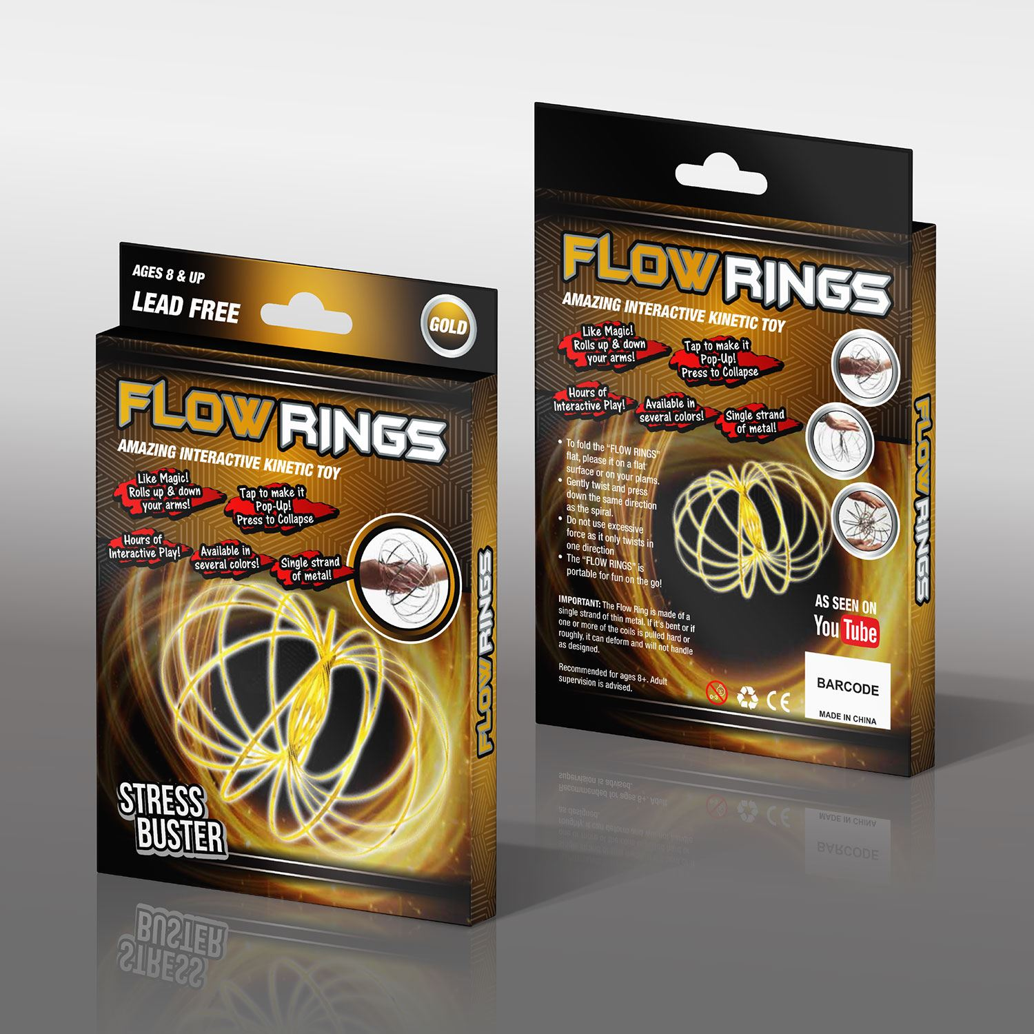 Magic Flow Rings Toys Funny Kinetic Spring Slinky Juggle Dance Gifts