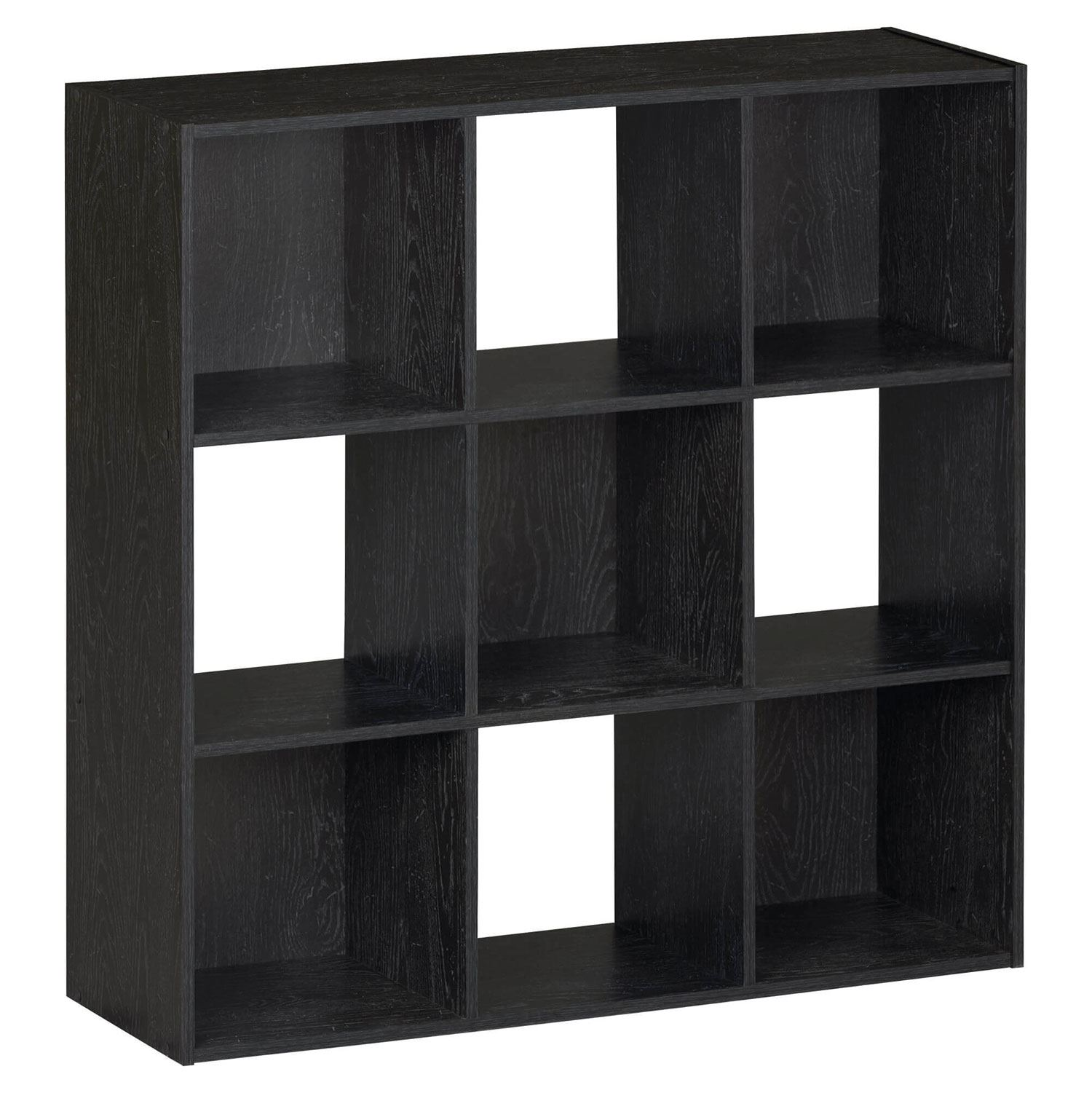 wooden storage unit 9 cube 3 tier strong bookcase shelving. Black Bedroom Furniture Sets. Home Design Ideas