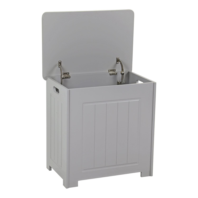 Grey-Wooden-Bathroom-Cabinet-Shelf-Cupboard-Bedroom-Storage-Unit-Free-Standing thumbnail 40