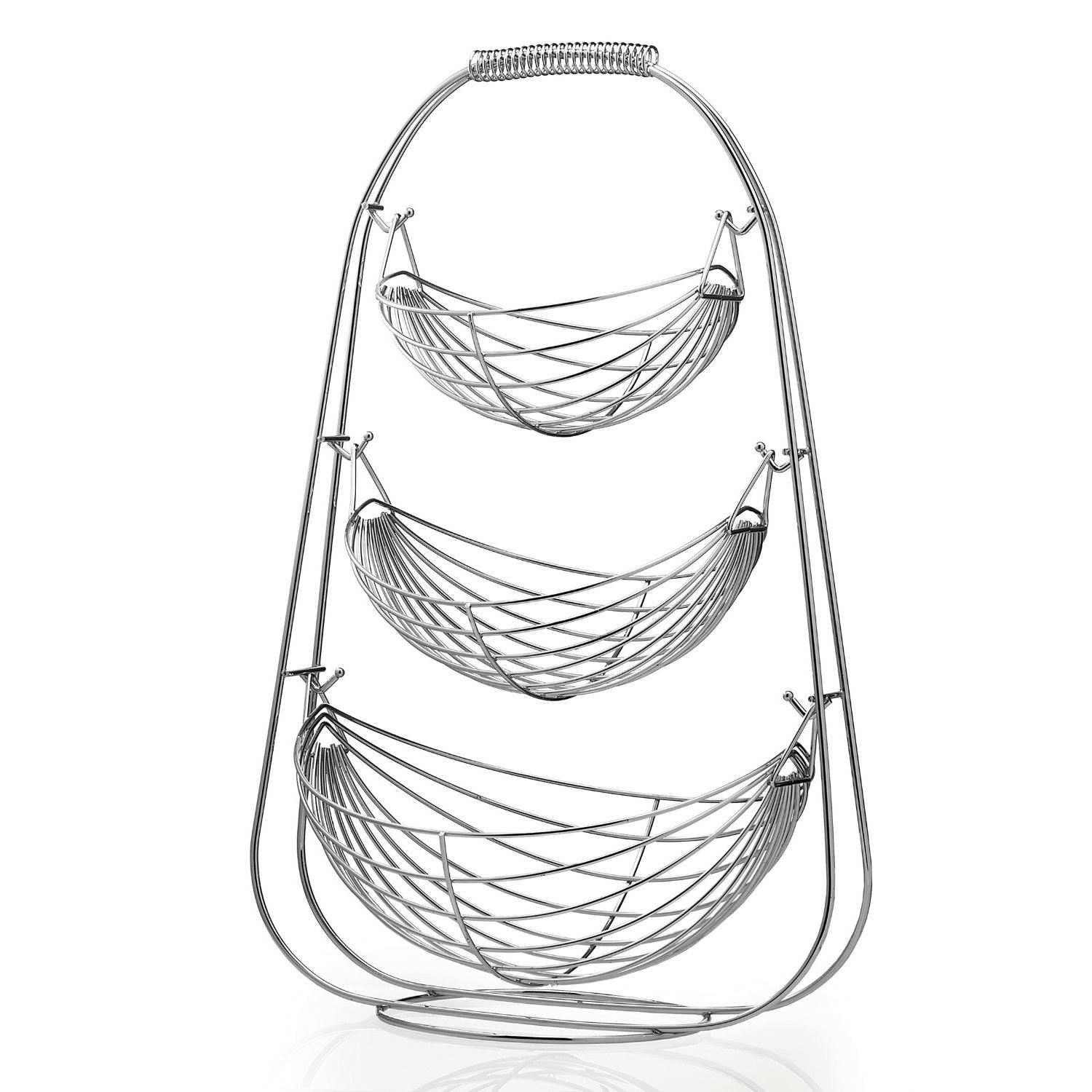Chrome 2 3 Tier Wire Fruit Vegetable Basket