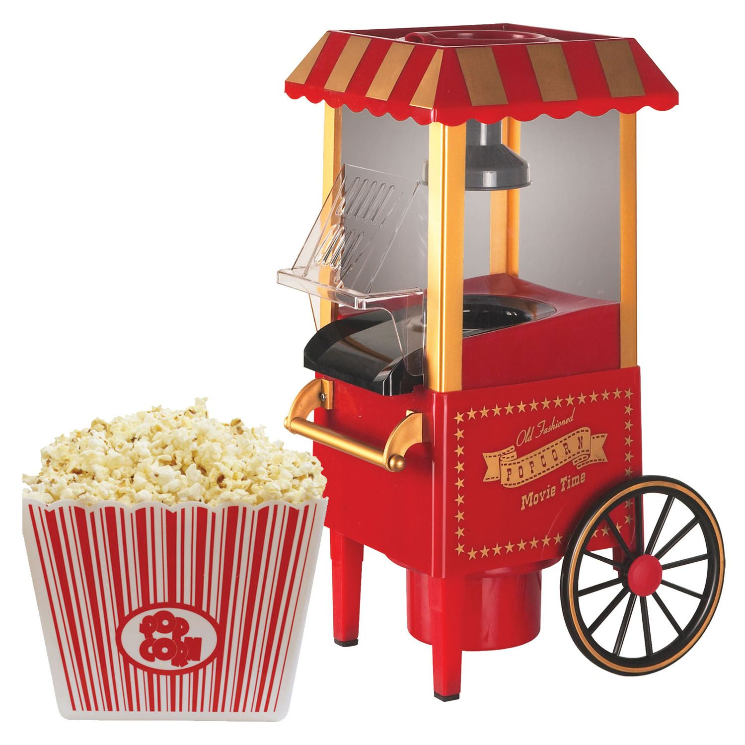 sentik electric hot air healthy popcorn popper maker machine retro cinema style ebay. Black Bedroom Furniture Sets. Home Design Ideas