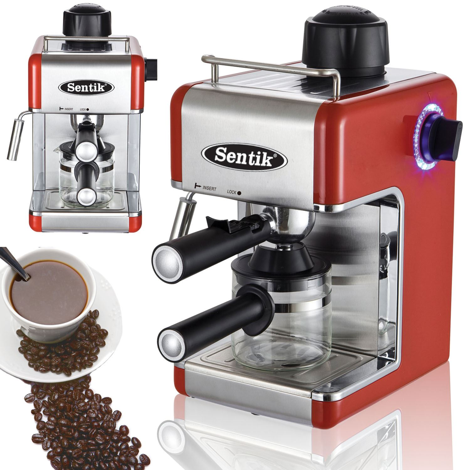 Sentik Espresso Cappuccino Latte Coffee Maker Machine Home