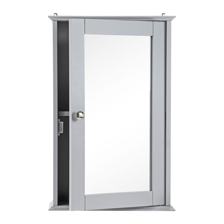Grey-Wooden-Bathroom-Cabinet-Shelf-Cupboard-Bedroom-Storage-Unit-Free-Standing thumbnail 12