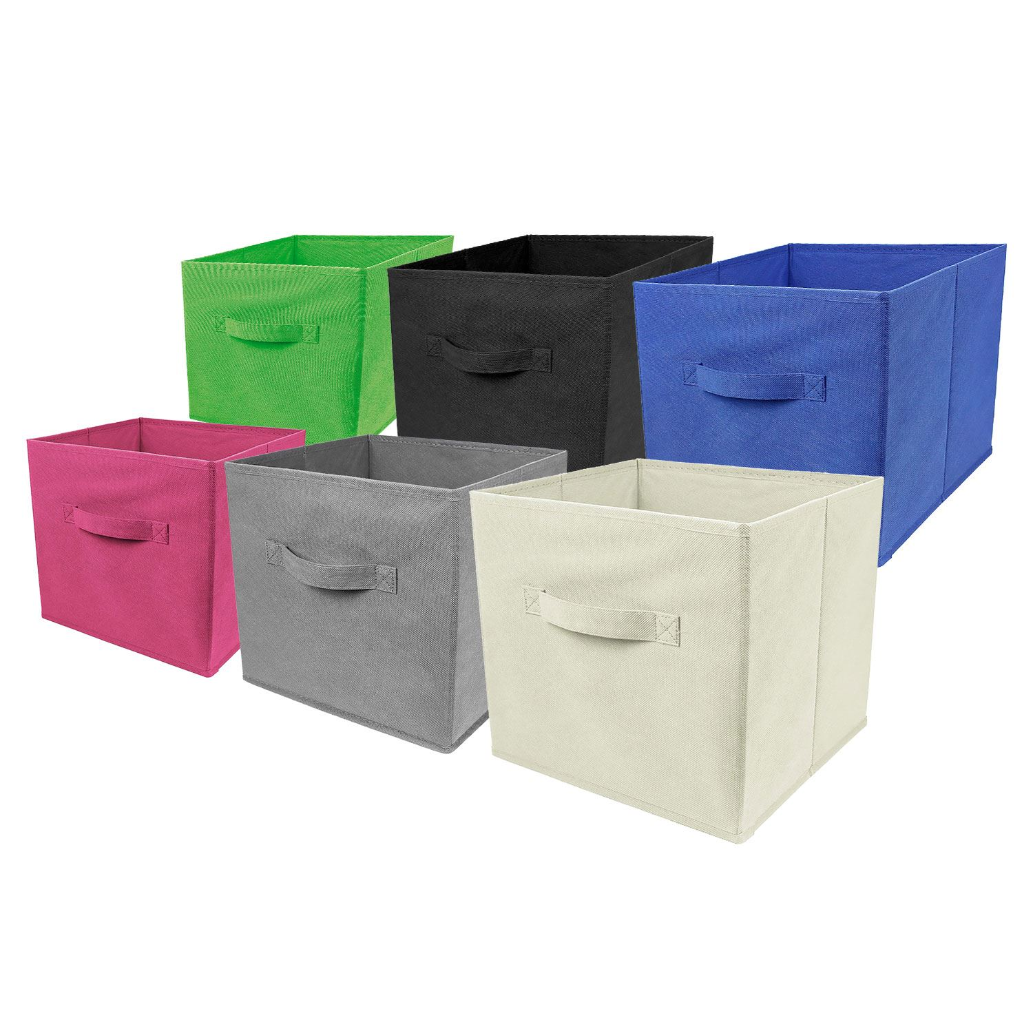2 Pack Foldable Storage Cubes. Image result for mobile responsive images  sc 1 st  eBay & 2 x Large Foldable Square Canvas Storage Box Collapsible Fabric ...