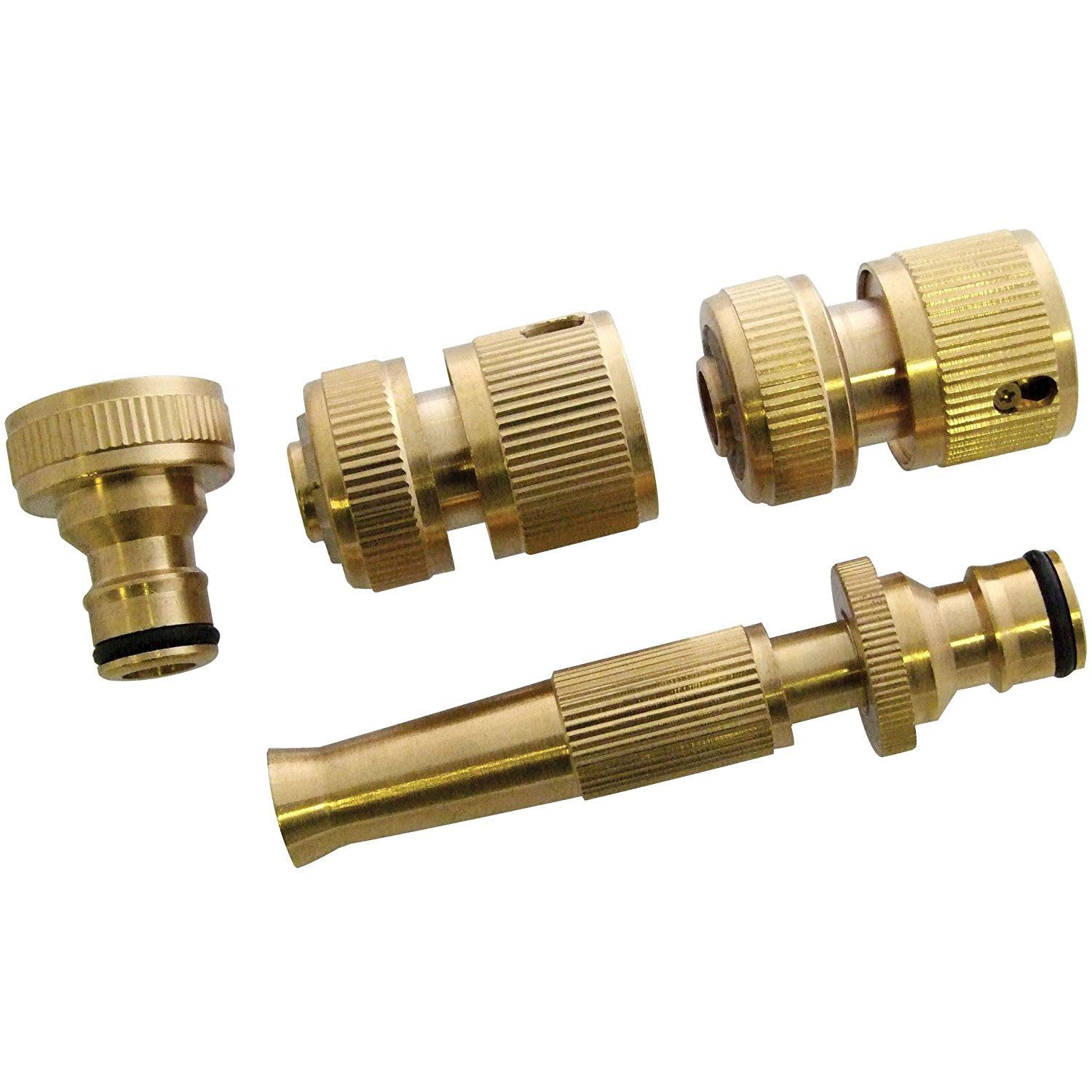 Brass Hose Pipe Fitting Set/ Garden Tap Hosepipe Quick Connectors & spray nozzle