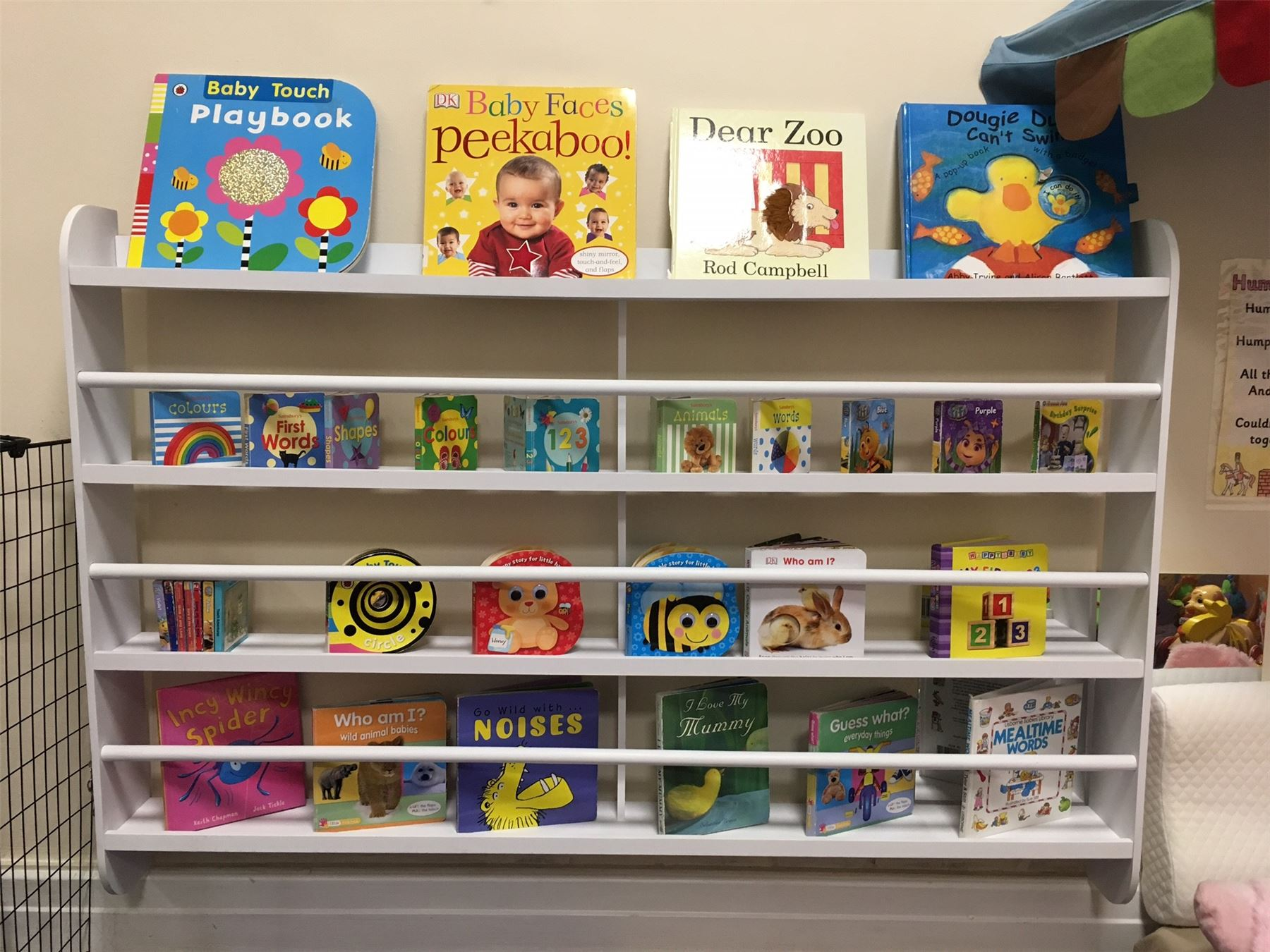 Details About Wall Bookshelf Bookcase Kids Children Books Shelf Storage Playroom Bedroom Rack