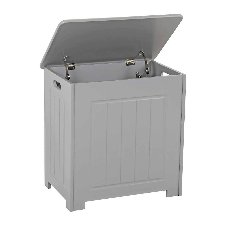 Grey-Wooden-Bathroom-Cabinet-Shelf-Cupboard-Bedroom-Storage-Unit-Free-Standing thumbnail 41
