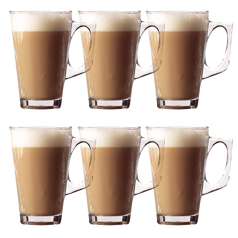 Espresso Coffee Glass ~ Ml latte glasses tea cappuccino glass tassimo costa