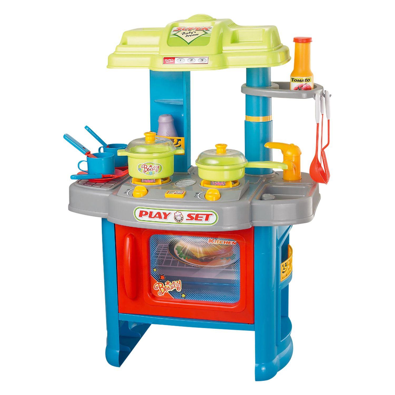 Boys Girls Childrens Kids Kitchen Play Set Pretend Toy Game Tools ...