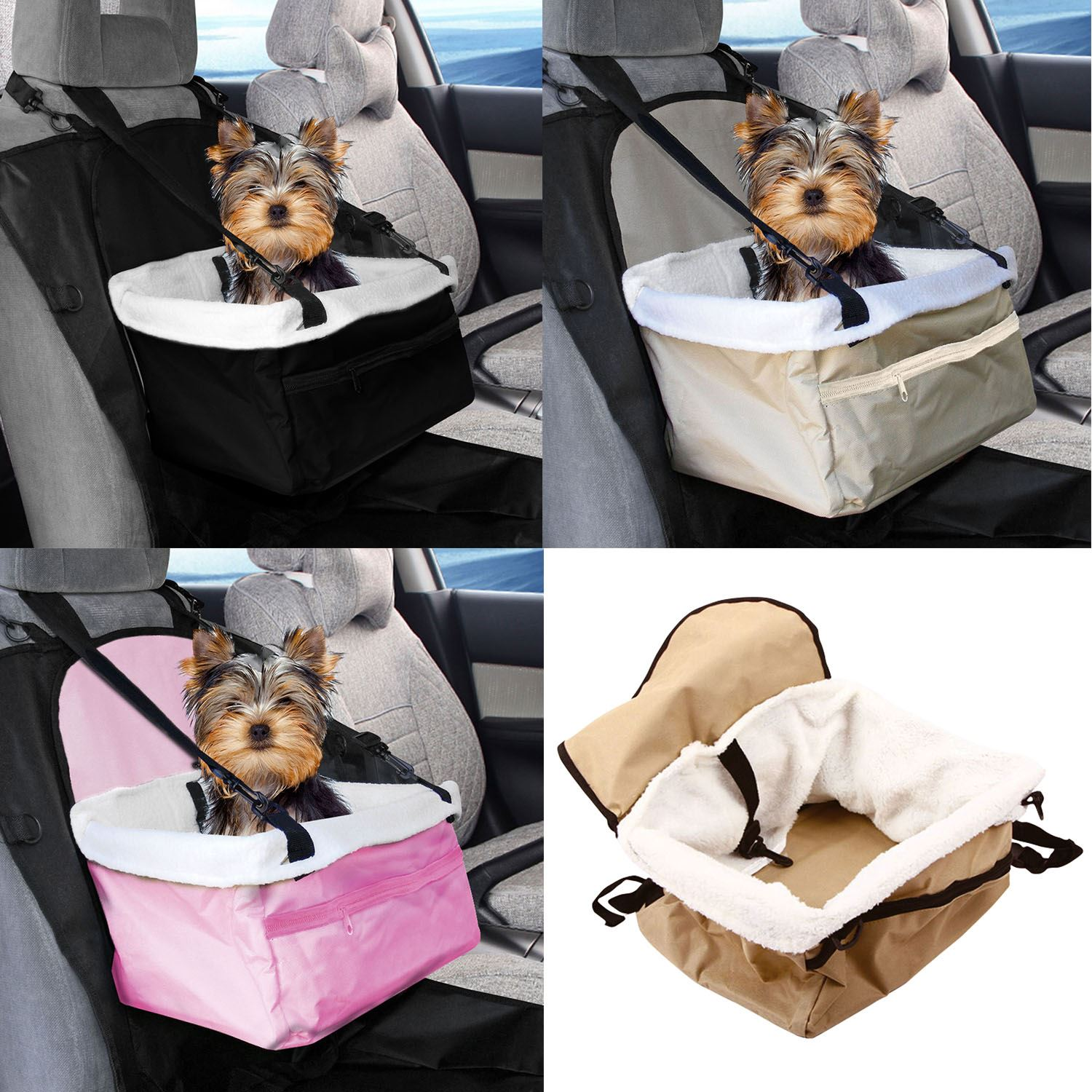 Travel Folding Dog Cat Pet Puppy Car Carrier Booster Seat