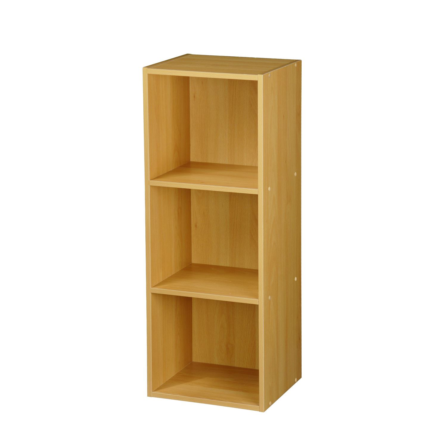 Tier Strong Wooden Bookcase Shelving Cube Storage