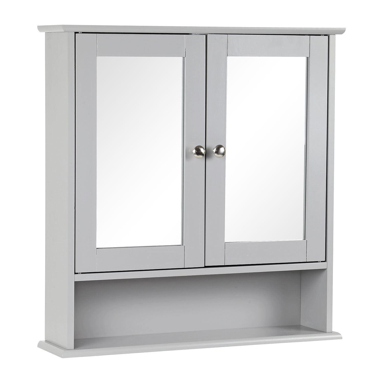 Grey-Wooden-Bathroom-Cabinet-Shelf-Cupboard-Bedroom-Storage-Unit-Free-Standing thumbnail 16