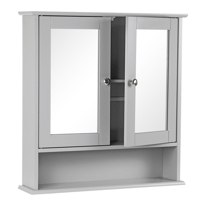 Grey-Wooden-Bathroom-Cabinet-Shelf-Cupboard-Bedroom-Storage-Unit-Free-Standing thumbnail 18