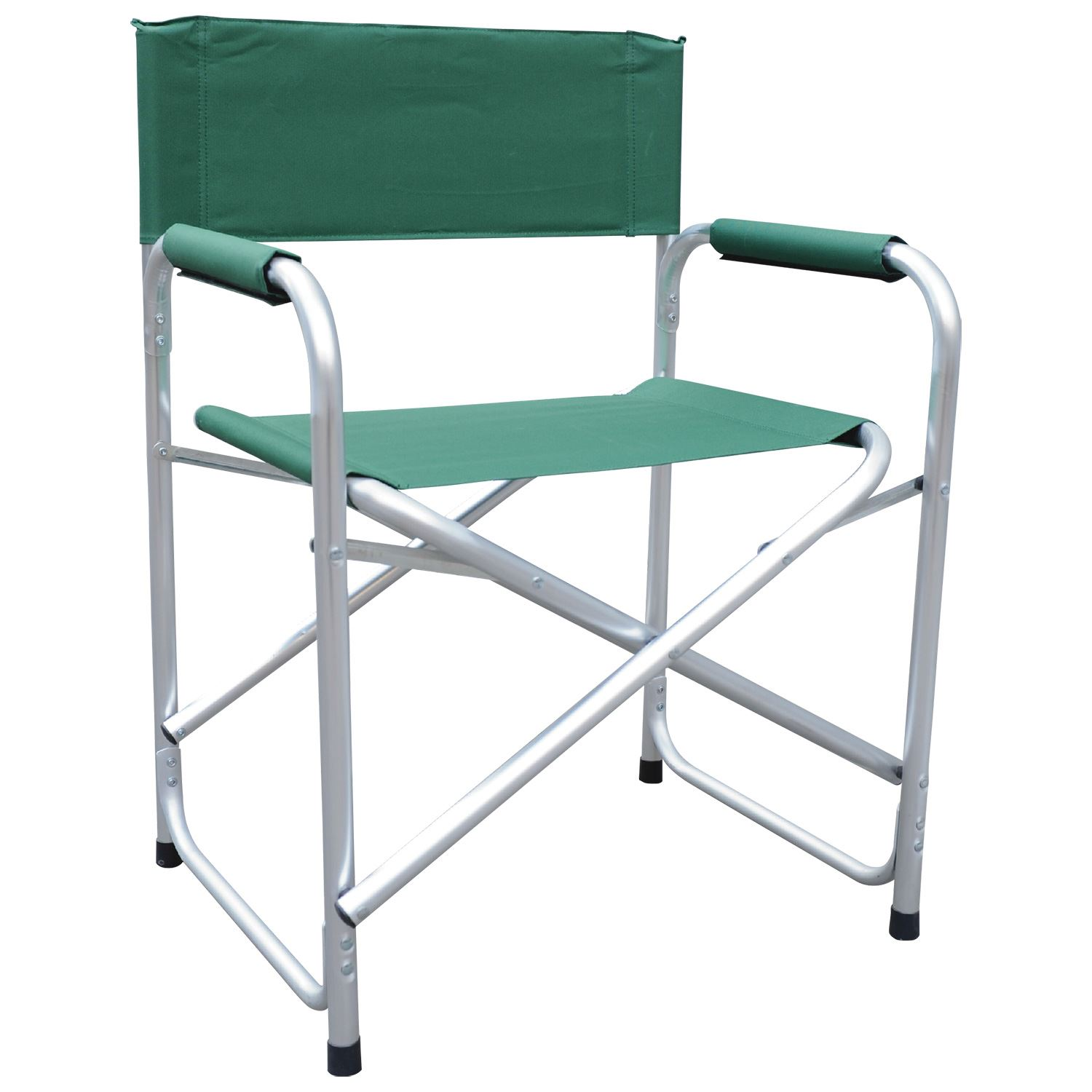 Black & Green Lightweight Folding Directors Chair W Padded Arms