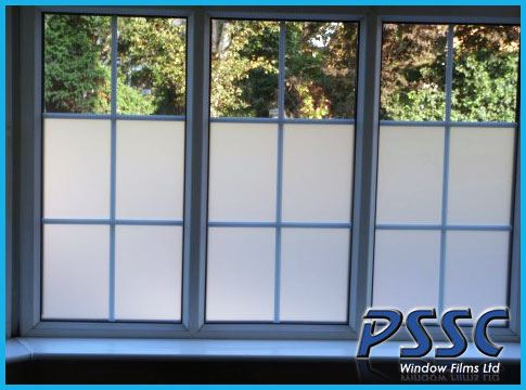 Decorative window film clear white frost tint privacy