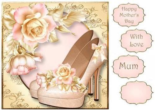 Precioso Rosa Pálido Zapatos Y Rosas 8x8 Quick Topper por Anne Palanca