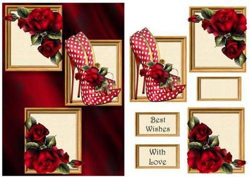 Spotty Zapatos Y Rosas Rojas Marco Trio por Anne Palanca