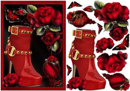 Zapato Rojo Rosa Topper por Karen Wyeth