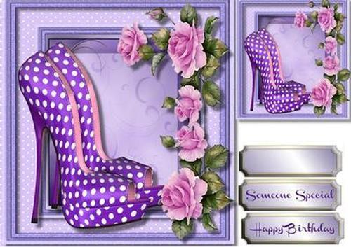Hermoso Lila Zapatos y rosas por ceredwyn Macrae