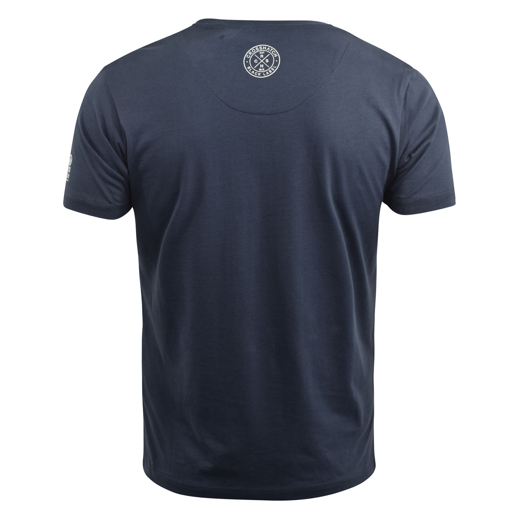 Para-Hombre-Crosshatch-Camiseta-Grafico-Cuello-Redondo-Manga-Corta-Camiseta-Top-wolvey miniatura 7