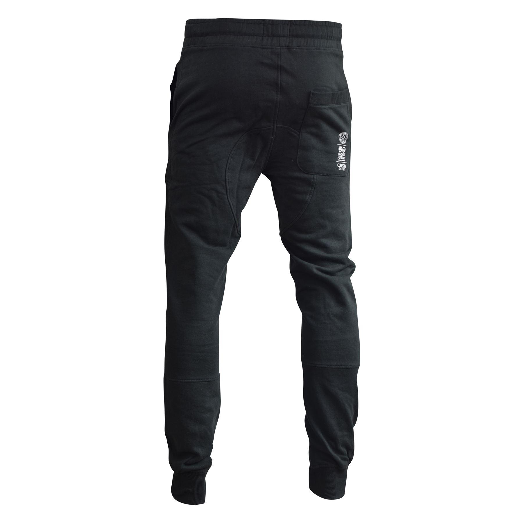 Para-Hombre-Pantalones-Basculador-Crosshatch-shacka-Flaca-Delgada-Chandal-Correr-Pantalones miniatura 9