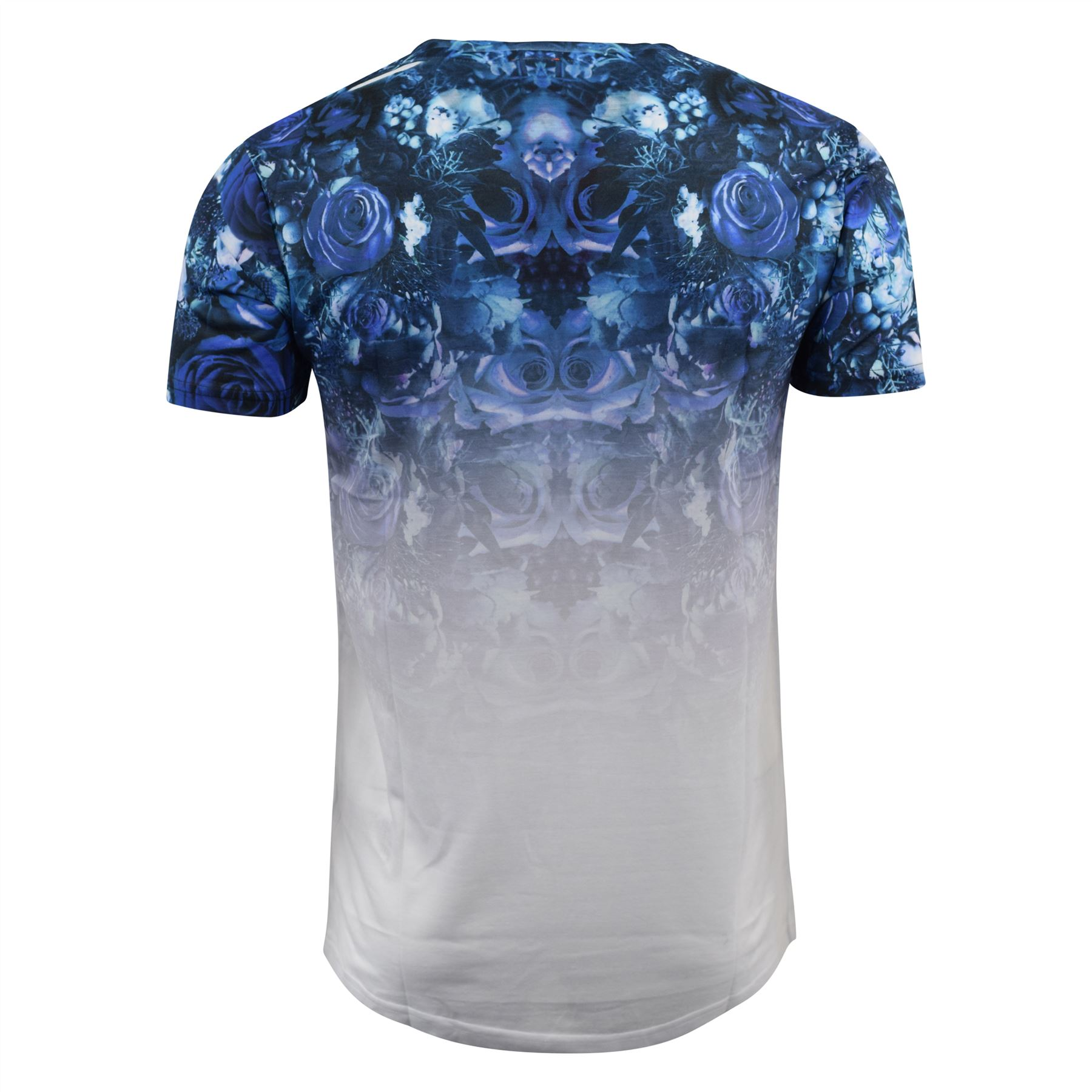 Mens-T-Shirt-Juice-Floral-Print-Flower-Crew-Neck-Tee-Top thumbnail 21