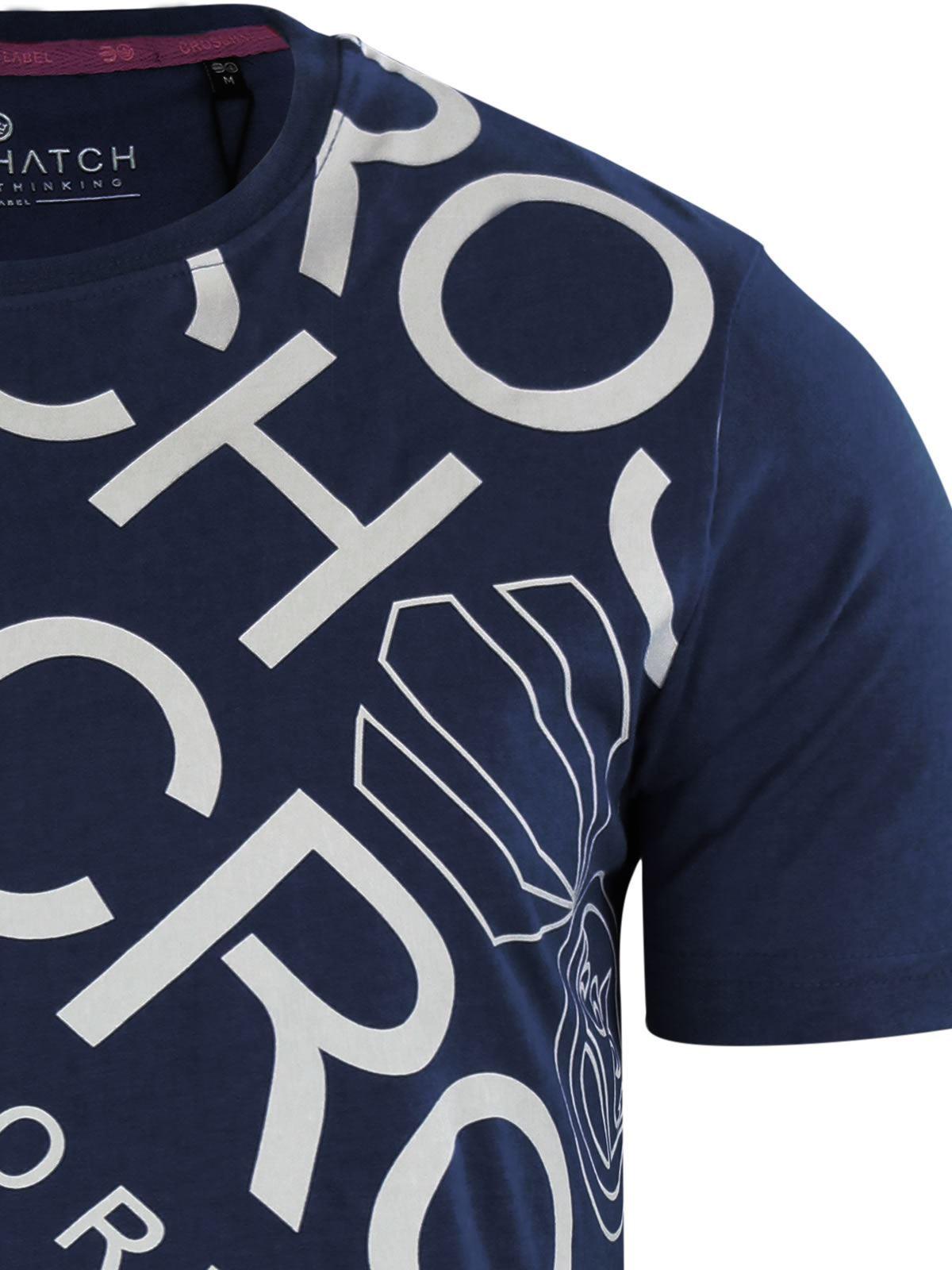 Para-Hombres-Crosshatch-Camiseta-Cuello-redondo-Prenda-para-el-torso-Camiseta-diagwol miniatura 10