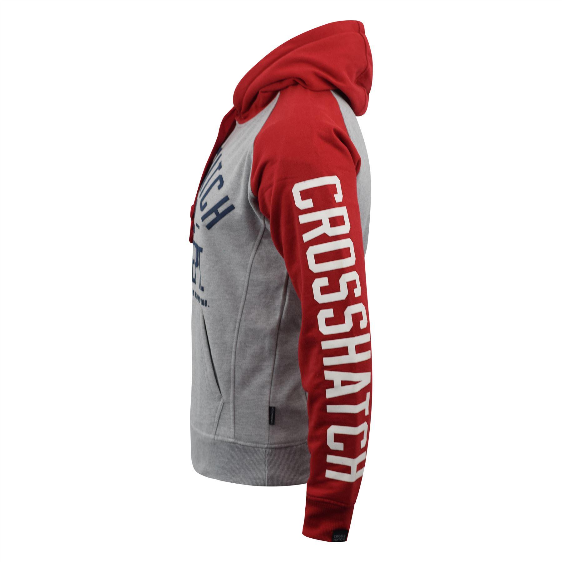 Mens-Hoodie-Crosshatch-Sweatshirt-Hooded-Jumper-Top-Pullover-TEMPTONS thumbnail 9