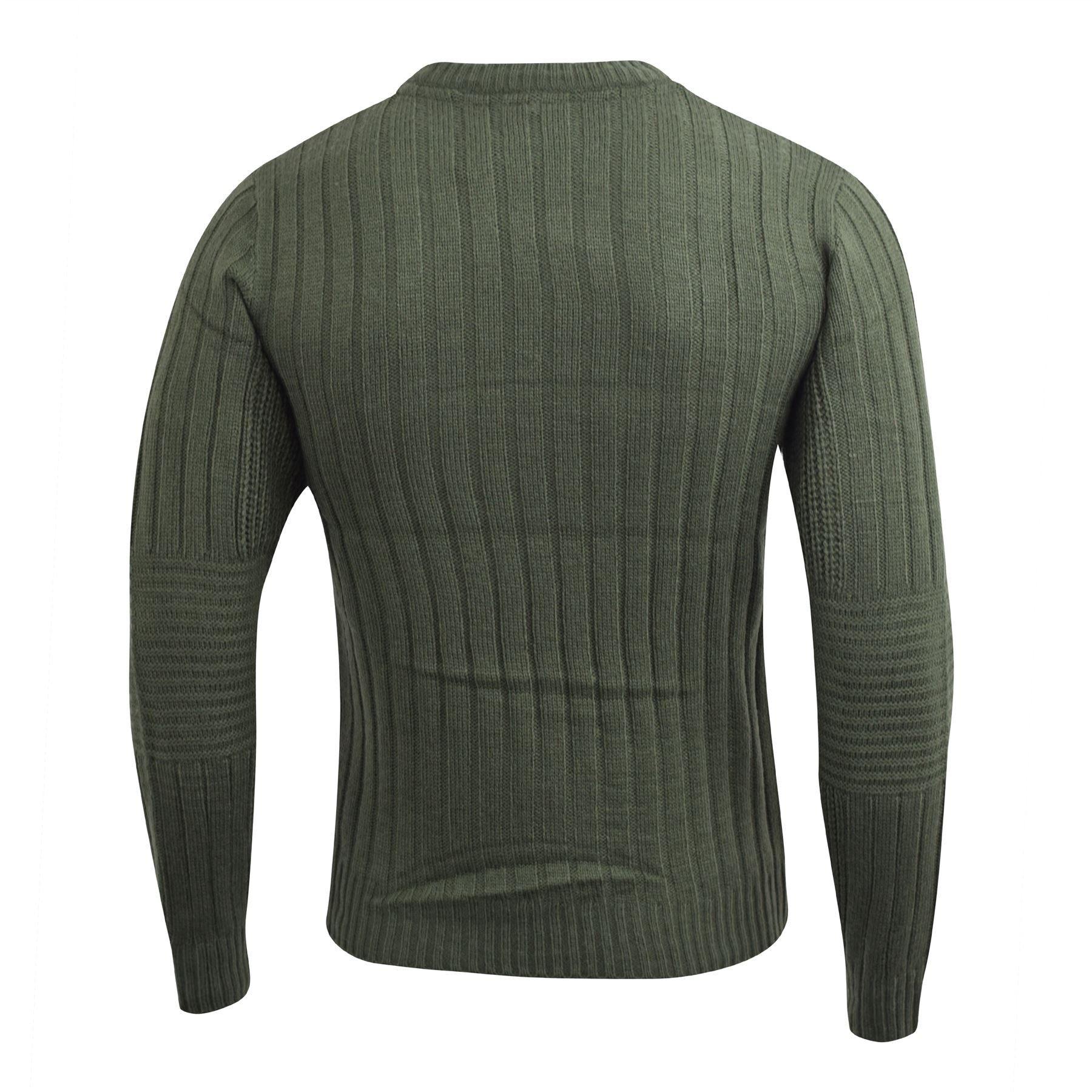 Mens-Knitwear-Crosshatch-Sweater-Textured-Knitted-Jumper thumbnail 3