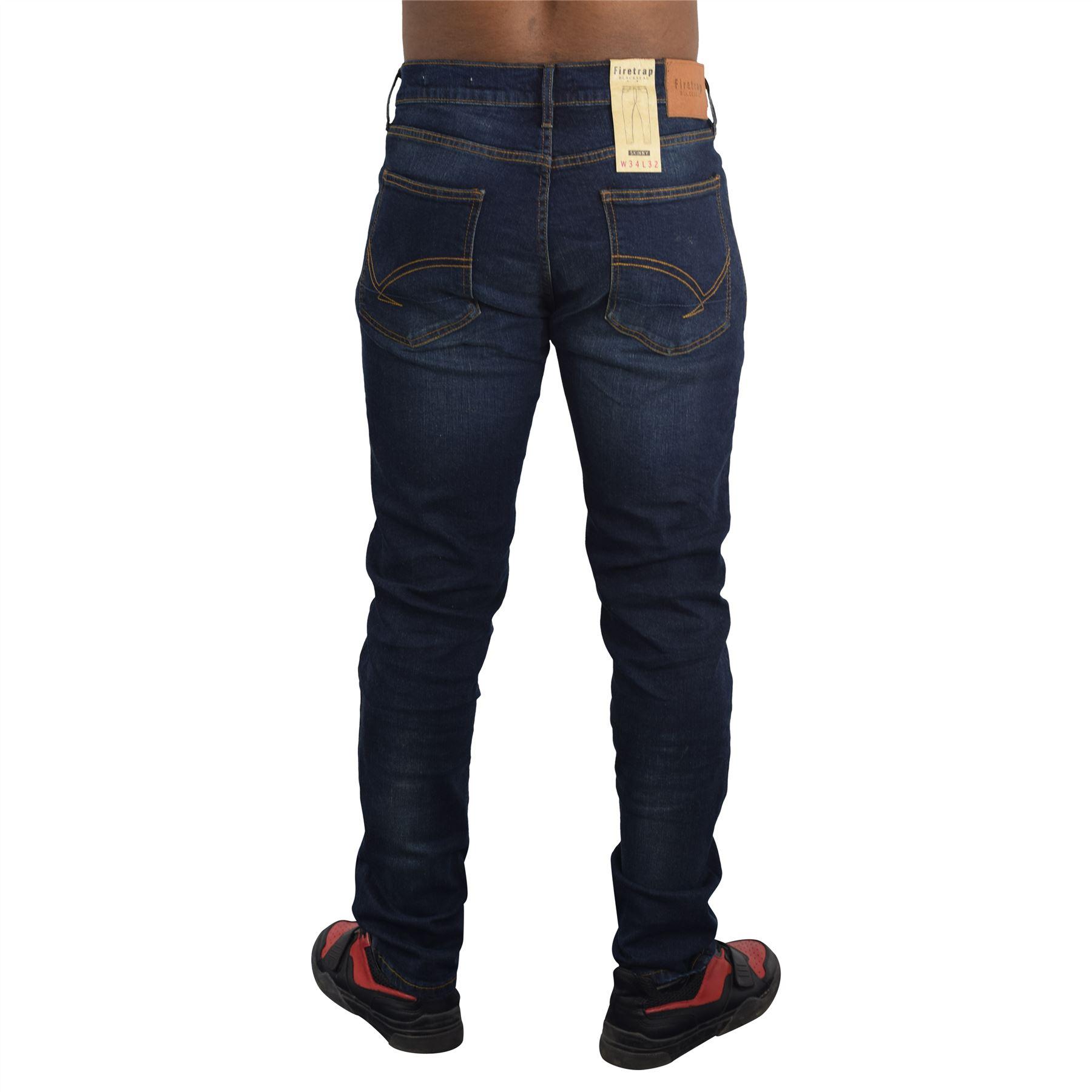 Nuevo-Para-Hombres-Firetrap-Jeans-skinny-fit-de-algodon-Pantalones-informales-Pantalones-de miniatura 5