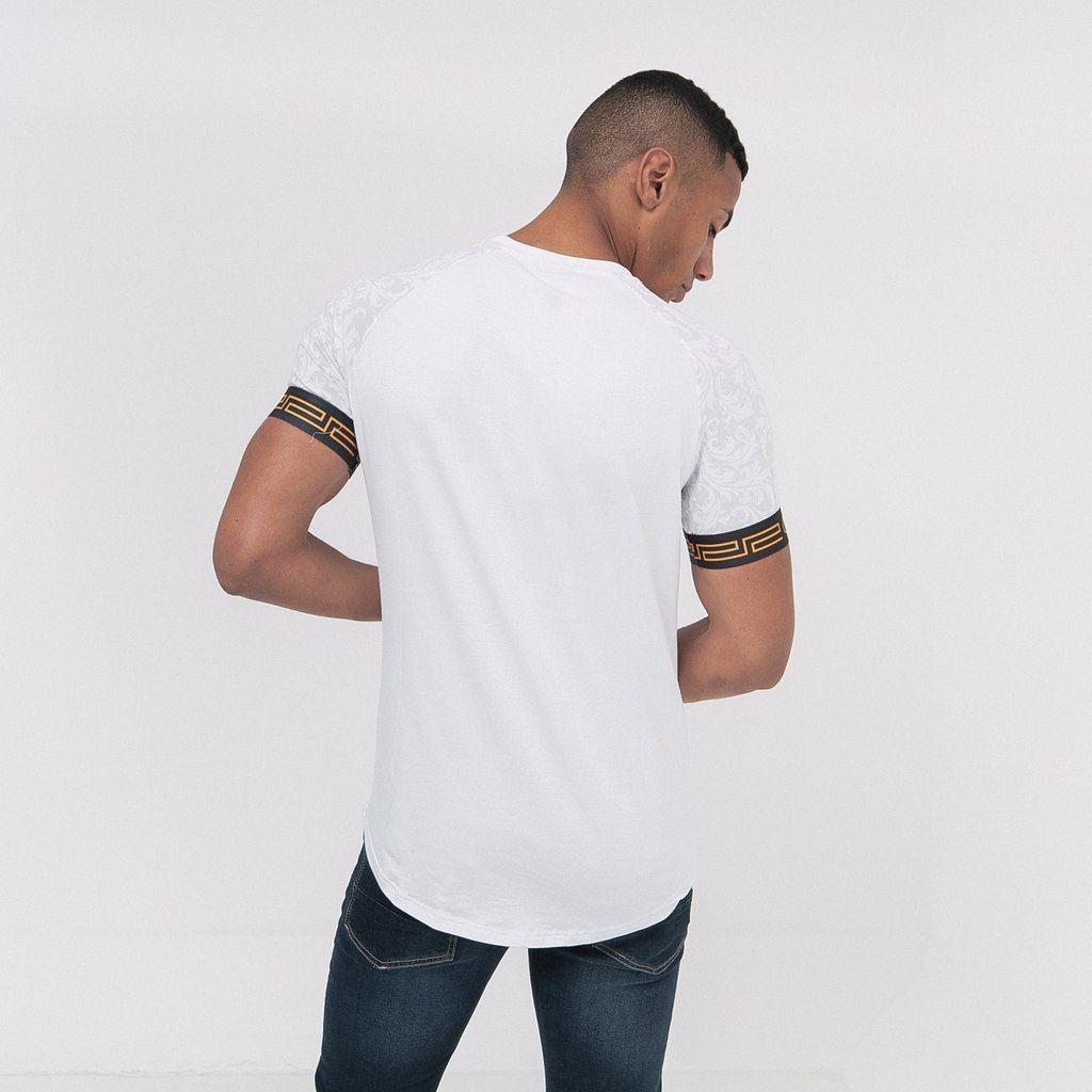 Para-Hombre-Crosshatch-T-Shirt-Tee-Top-de-cuello-redondo-cheshamer miniatura 6