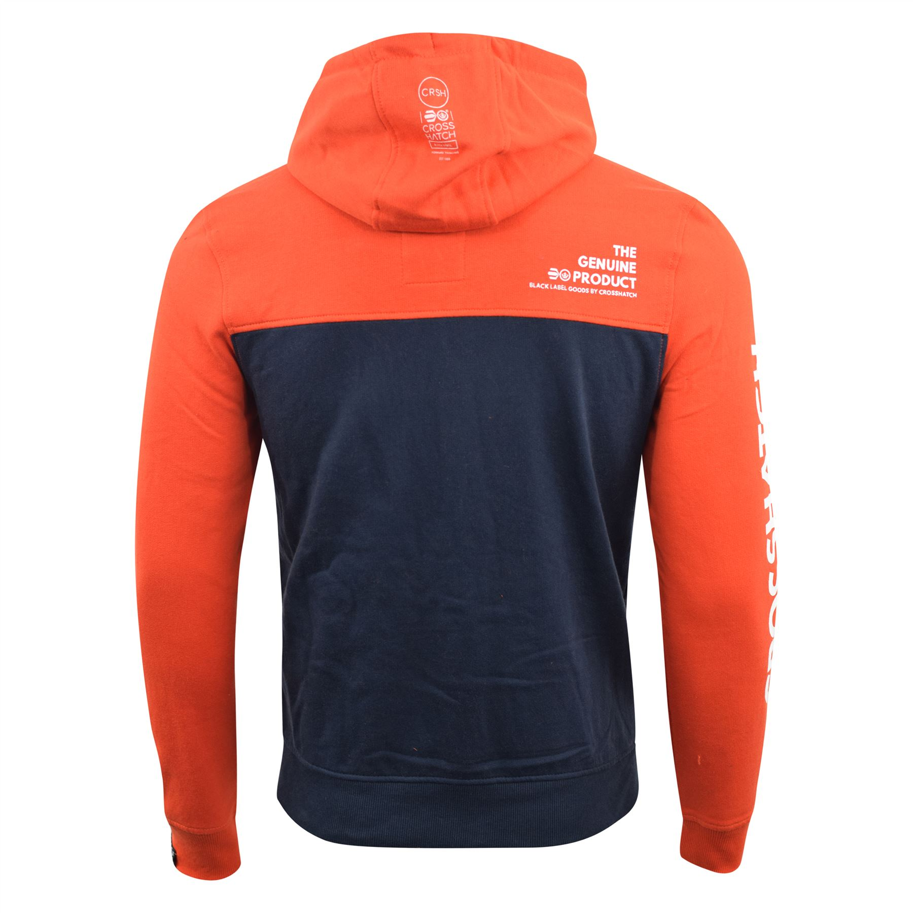 Mens Hoodie Crosshatch Sweatshirt  Full Zip Hooded Jumper Top Pullover Leveler