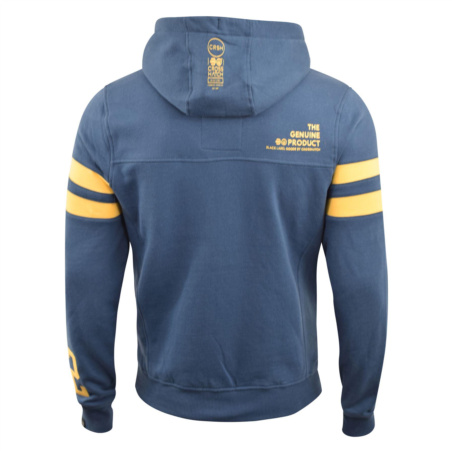Mens-Hoodie-Crosshatch-Clothing-Sweatshirt-Hooded-Jumper-Top-Pullover-Cramform thumbnail 4