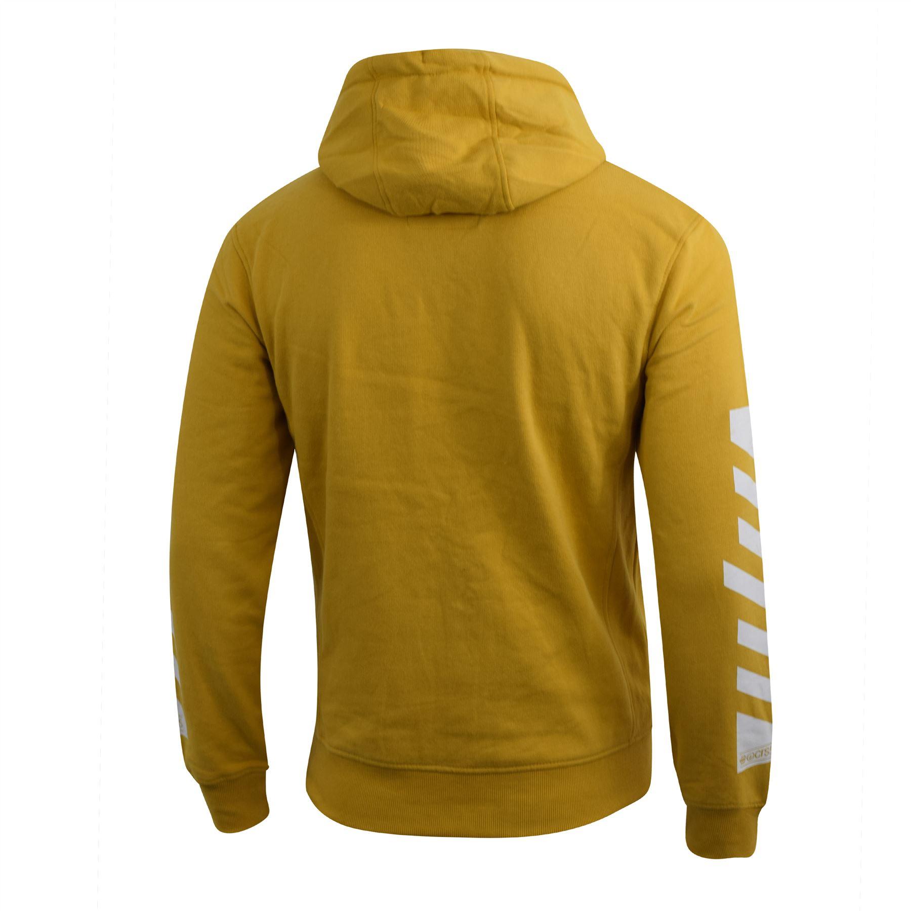 Mens Hoodie Crosshatch Pullover Degas Hooded Sweater Jumper