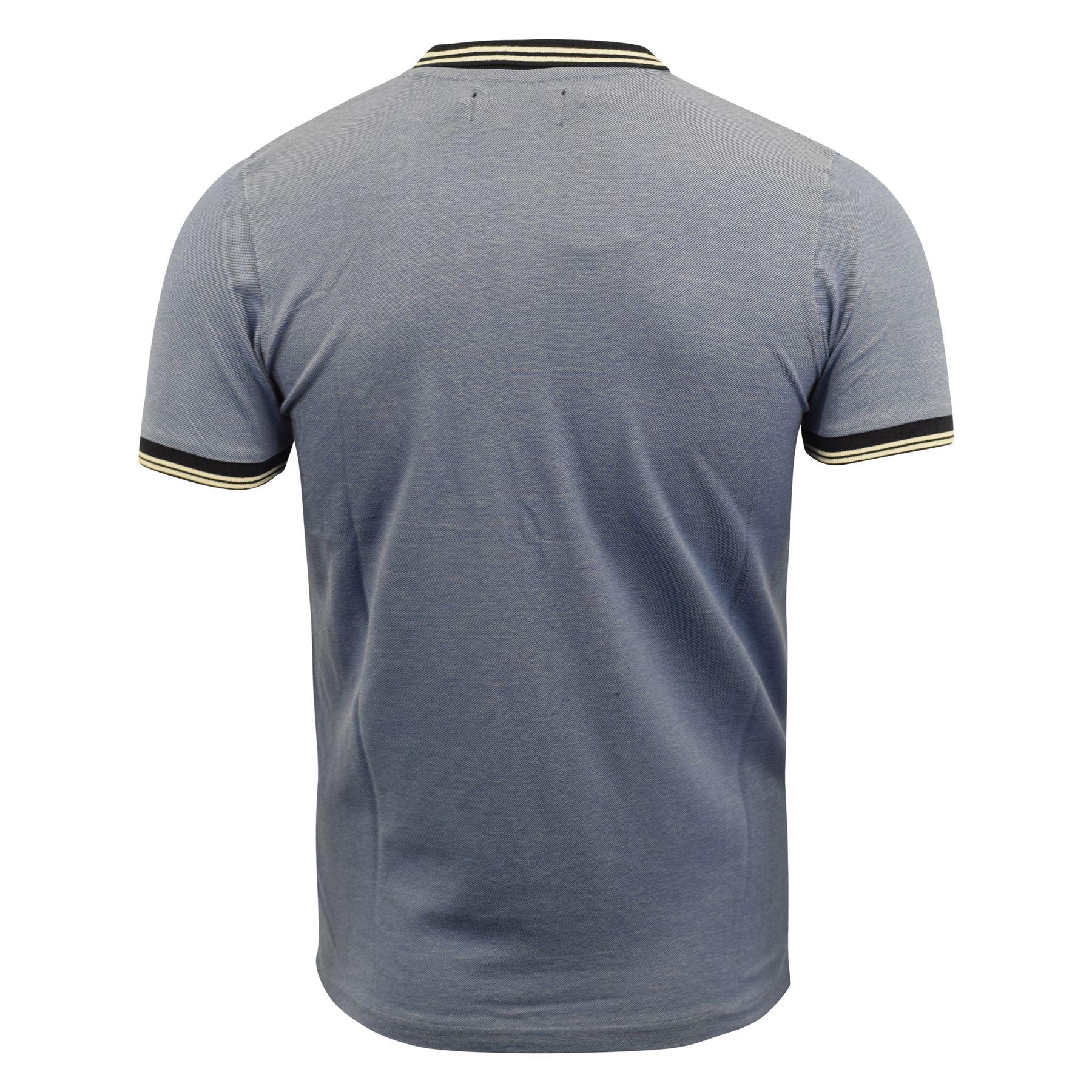 Mens-Polo-Shirt-kangol-Short-Sleeve-T-Shirt-Top-Rumi thumbnail 5