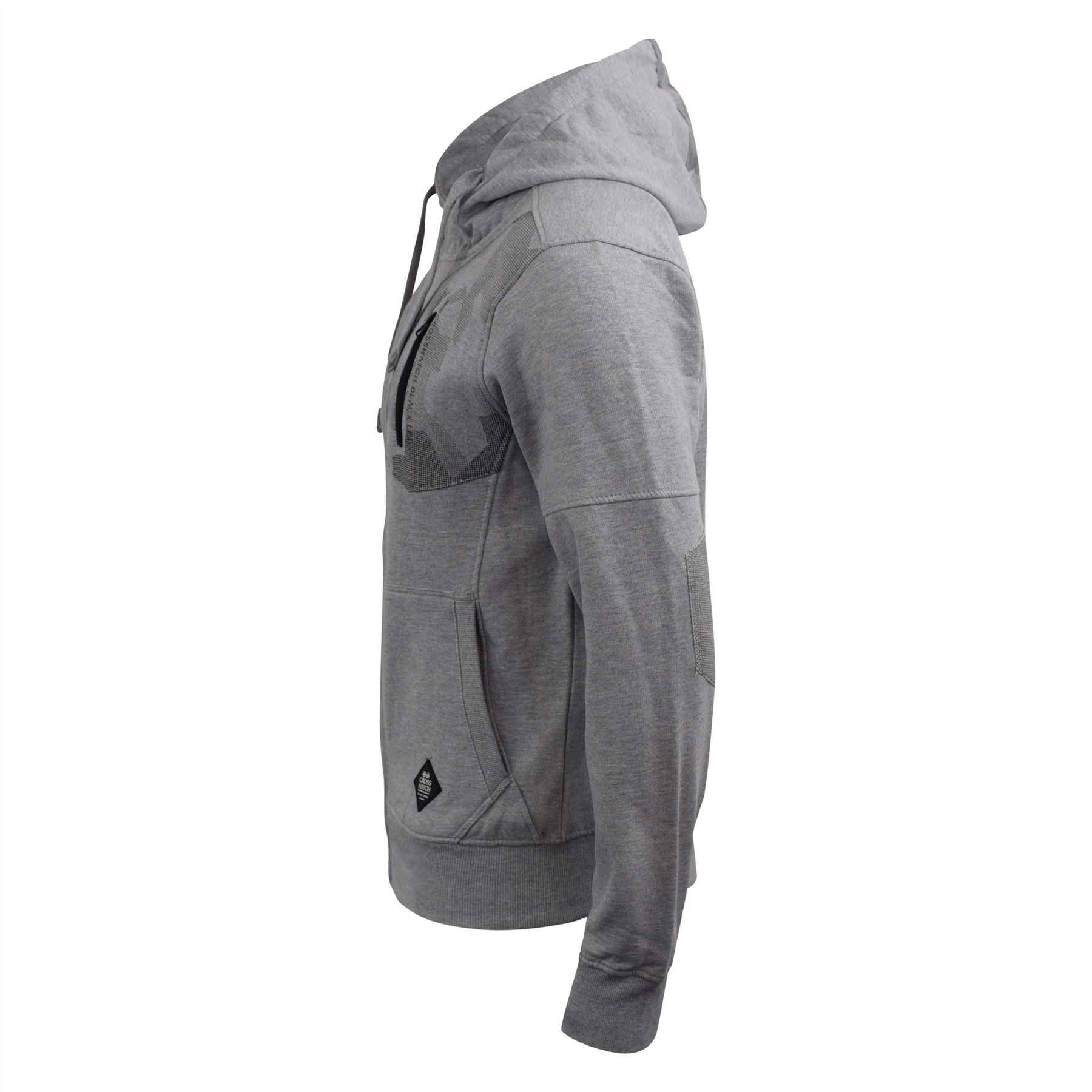 Mens-Hoodie-Crosshatch-Full-Zip-Sweatshirt-Hooded-Jumper-Top-Pullover-Radzim thumbnail 9