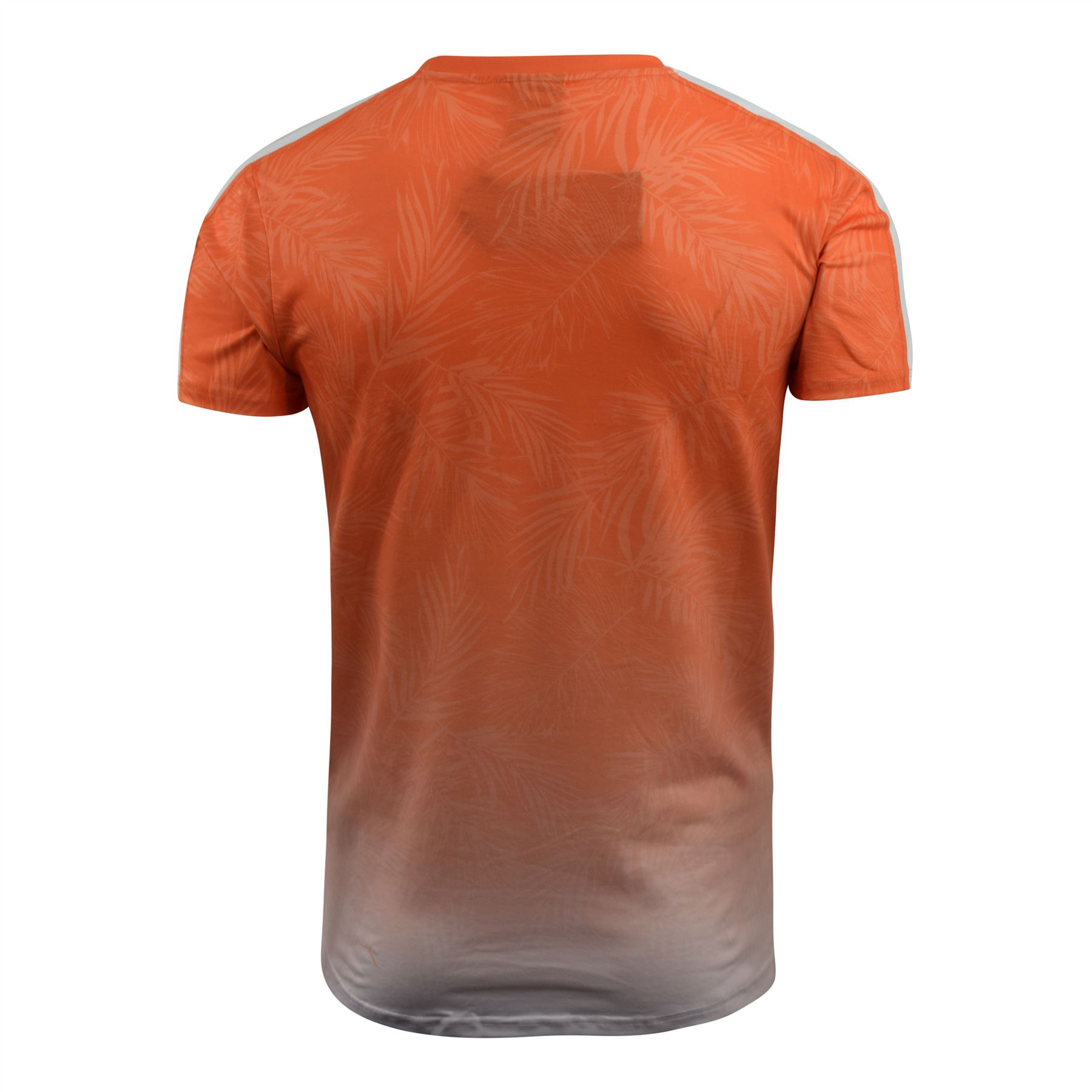 Mens-Crosshatch-T-Shirt-Contrast-Short-Sleeve-Tee-Top-Salifornia thumbnail 10