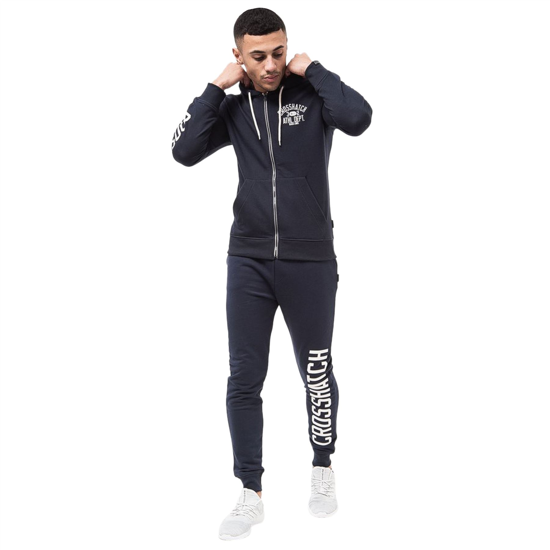 Mens-Jogger-Pants-Crosshatch-Rapton-Tracksuit-Jogging-Trousers thumbnail 6