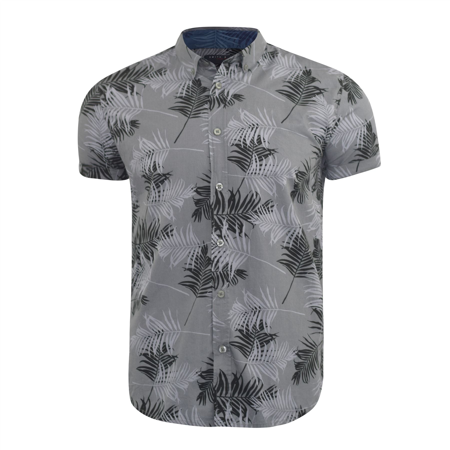Mens-Floral-Shirt-Audley-Short-Sleeved-Cotton-Blend-Casual-Top thumbnail 3