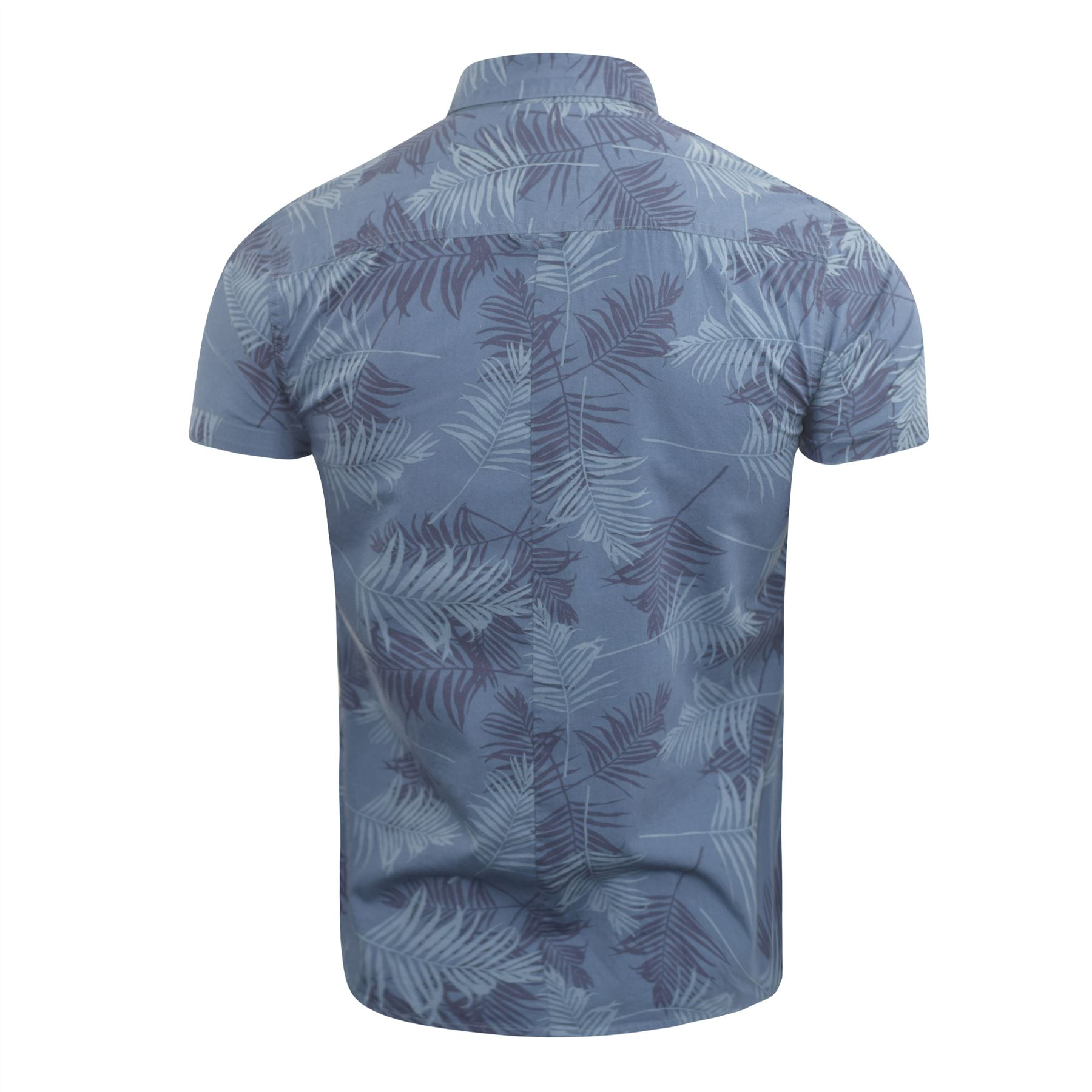 Mens-Floral-Shirt-Audley-Short-Sleeved-Cotton-Blend-Casual-Top thumbnail 7