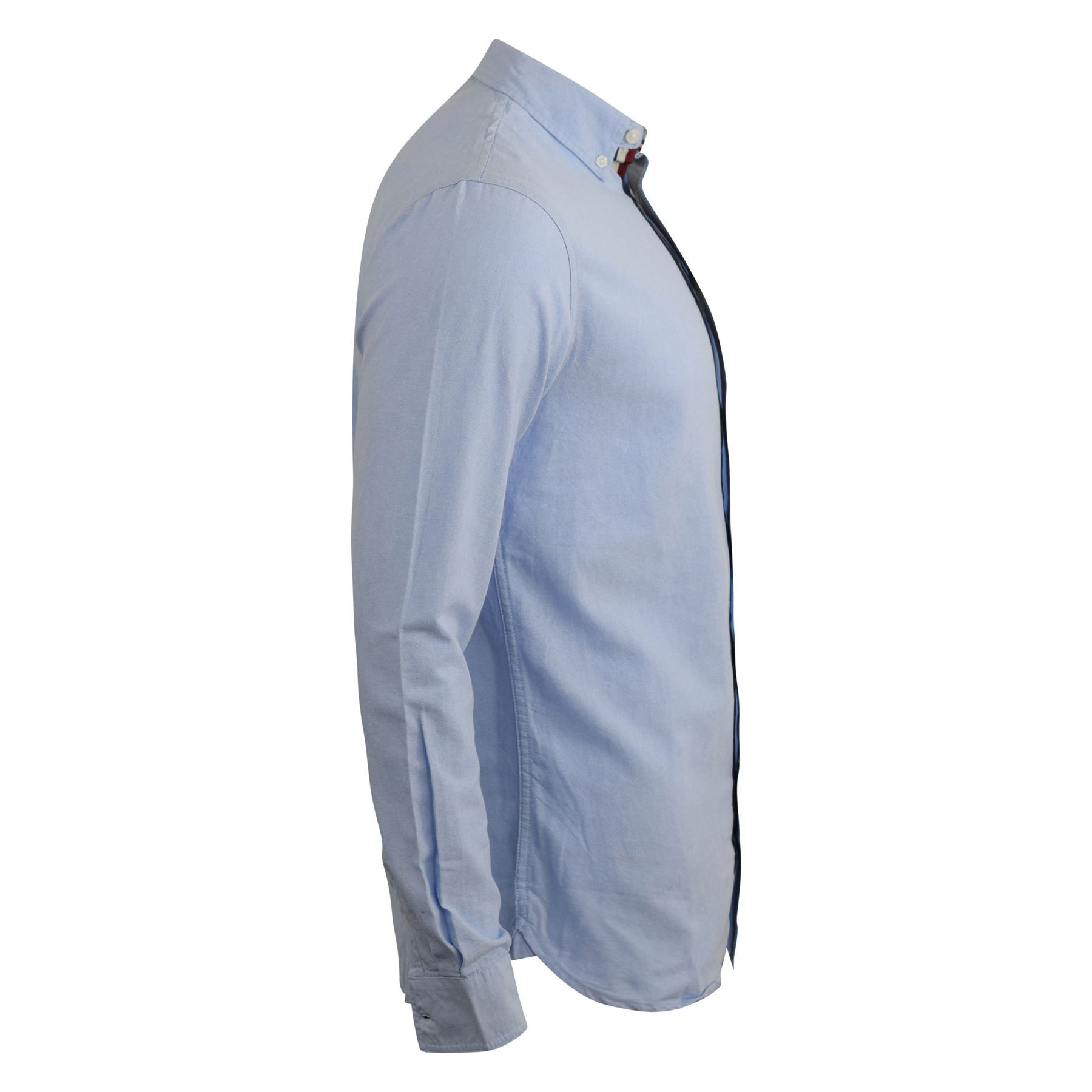 Mens-Oxford-Shirt-Kangol-Long-Sleeve-Lanundered-Casual-Shirt thumbnail 6
