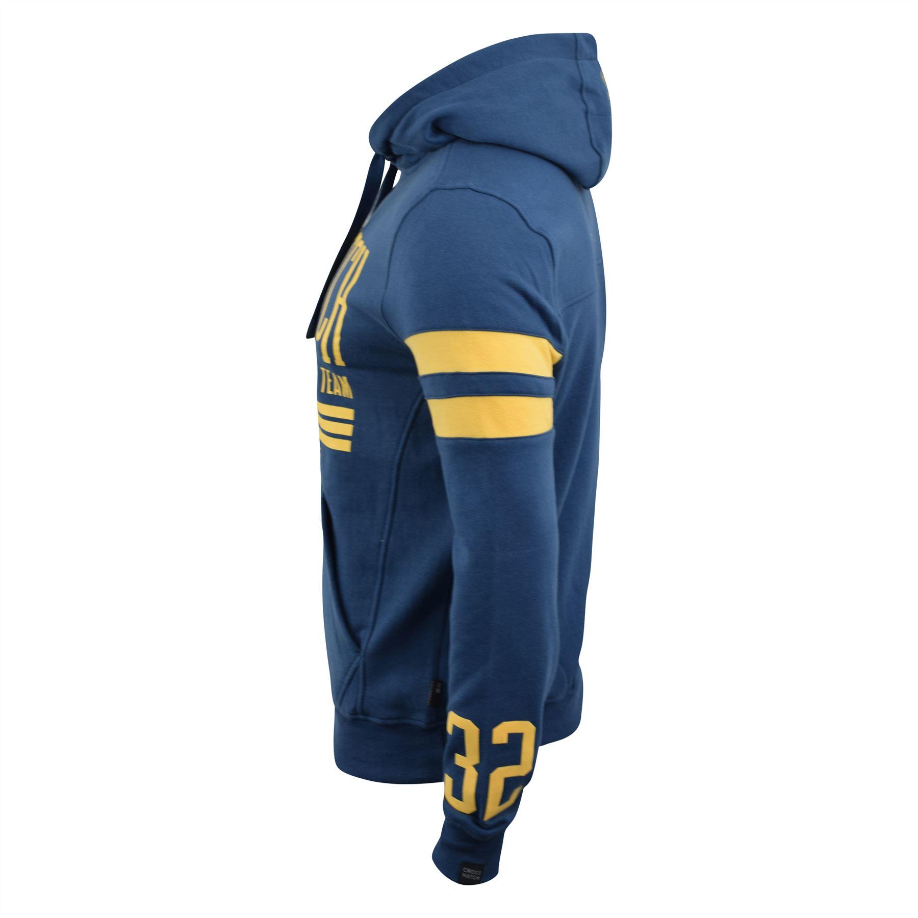 Mens-Hoodie-Crosshatch-Clothing-Sweatshirt-Hooded-Jumper-Top-Pullover-Cramform thumbnail 3