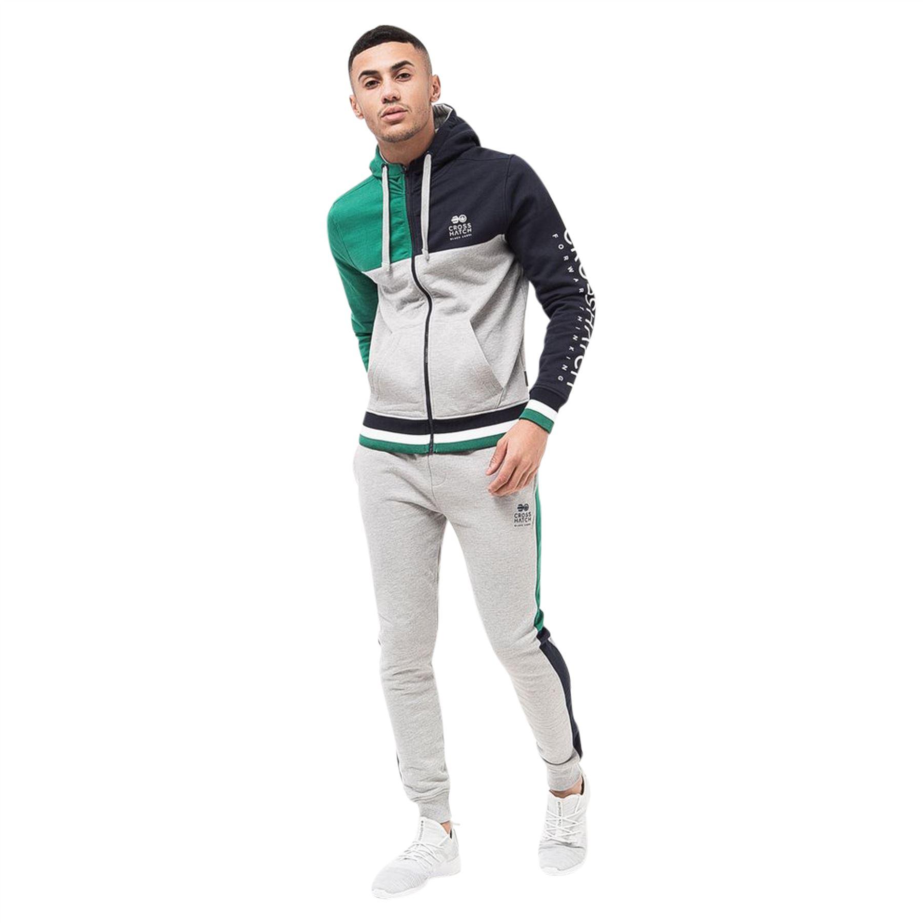 Mens-Joggers-Pants-Crosshatch-Daglum-Tracksuit-Jogging-Trousers thumbnail 4