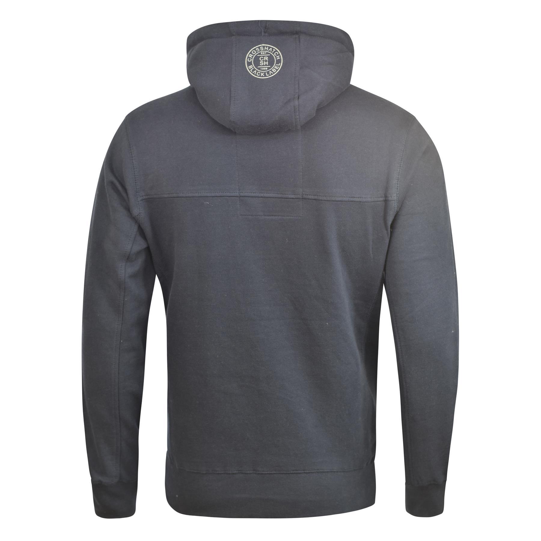 Mens-Hoodie-Crosshatch-Cravy-Sweatshirt-Hooded-Top thumbnail 9