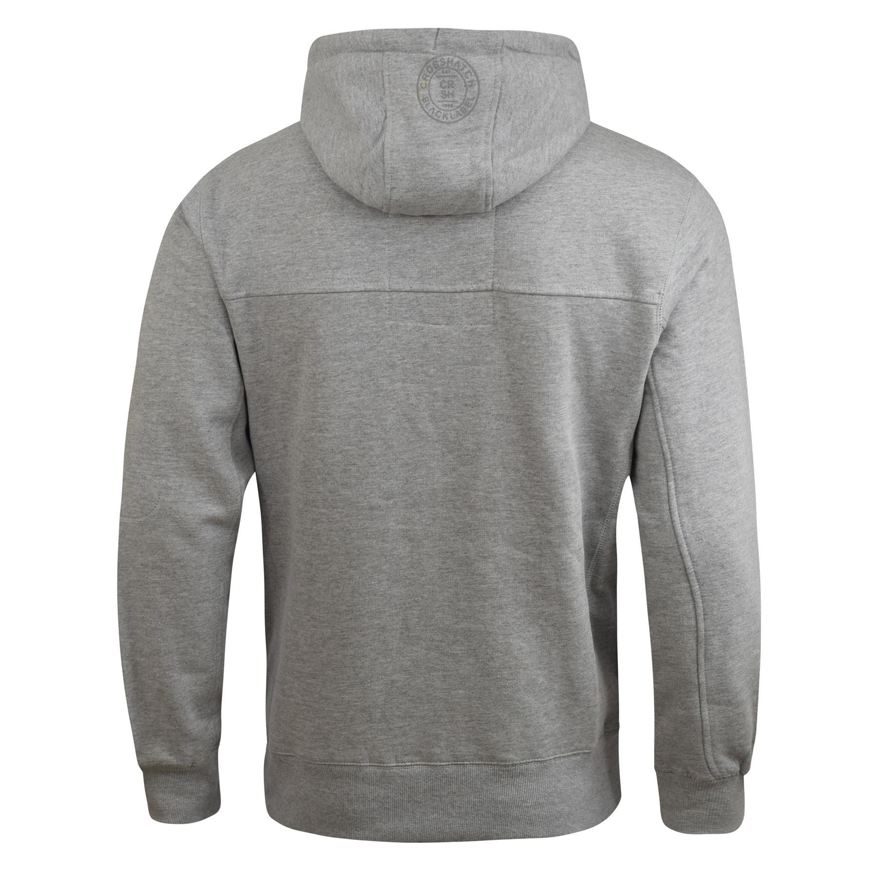 Mens-Hoodie-Crosshatch-Cravy-Sweatshirt-Hooded-Top thumbnail 7
