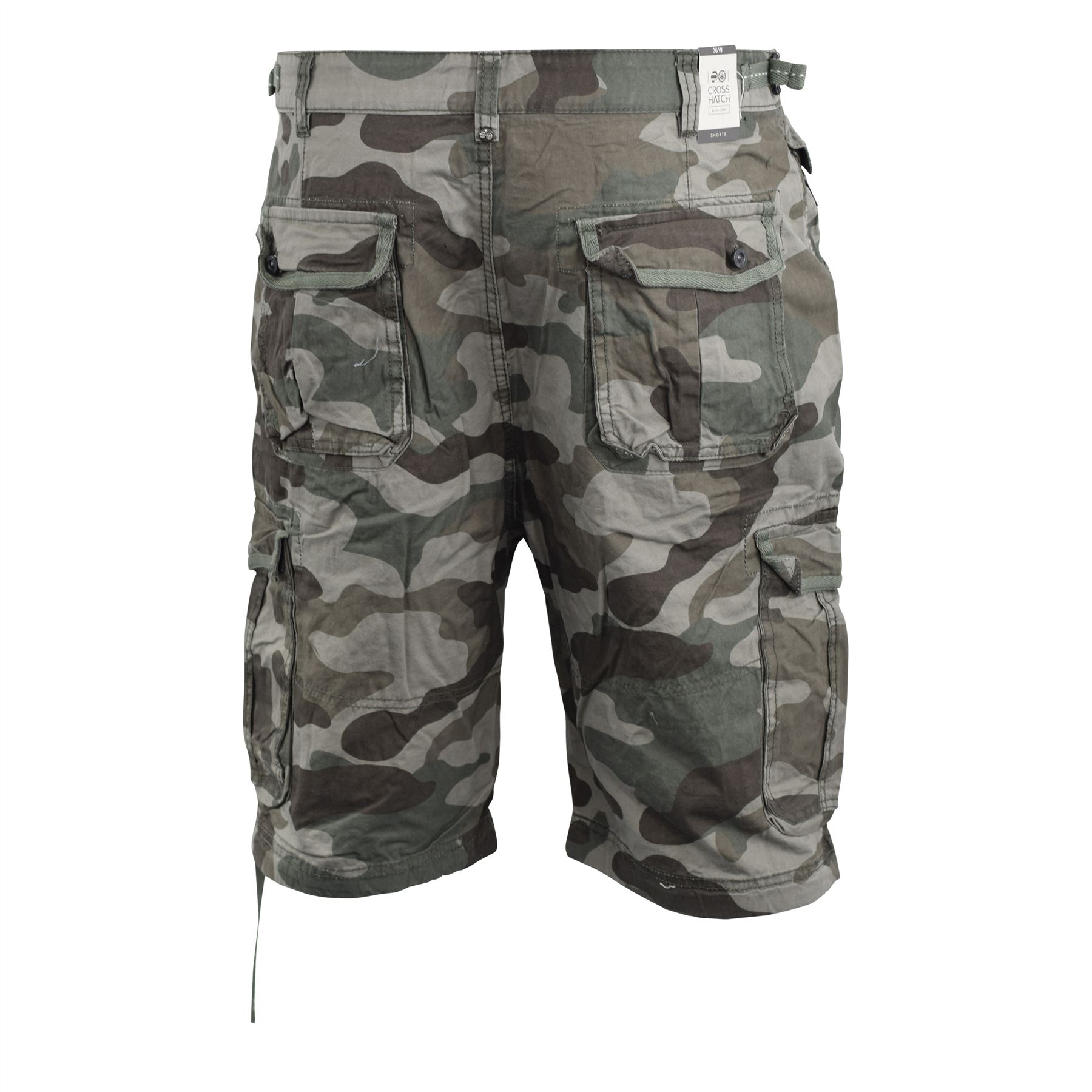75169bebd3 Mens Cargo Short Crosshatch Camo Combat Army Gym Summer Chinos Pants ...