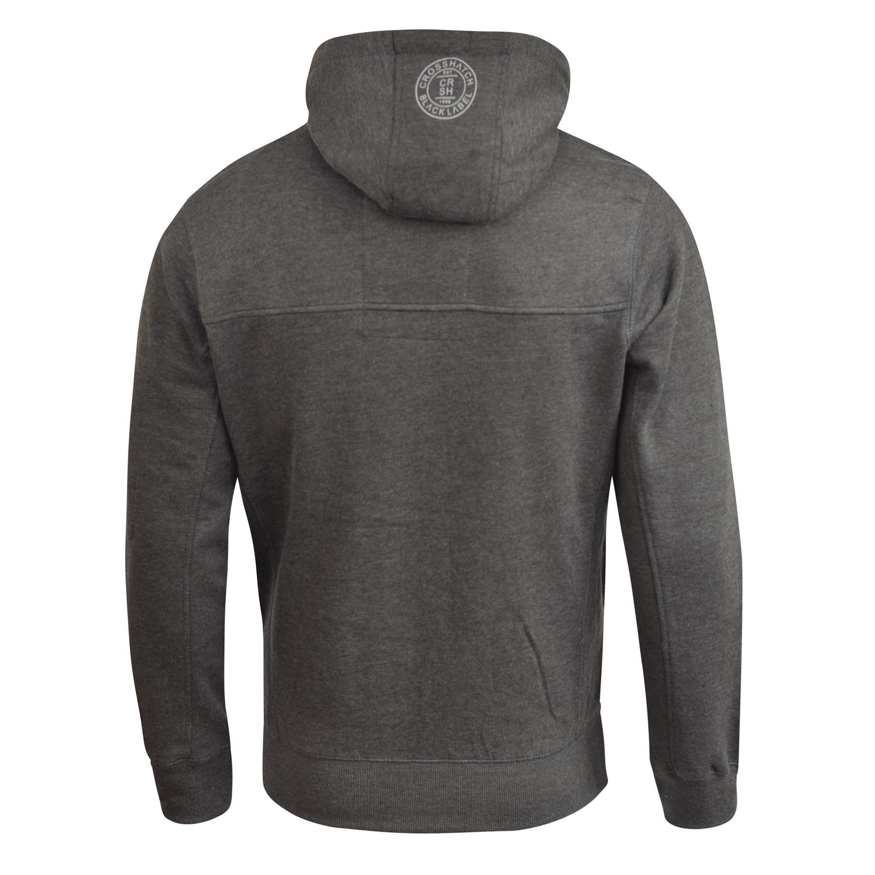 Mens-Hoodie-Crosshatch-Cravy-Sweatshirt-Hooded-Top thumbnail 4