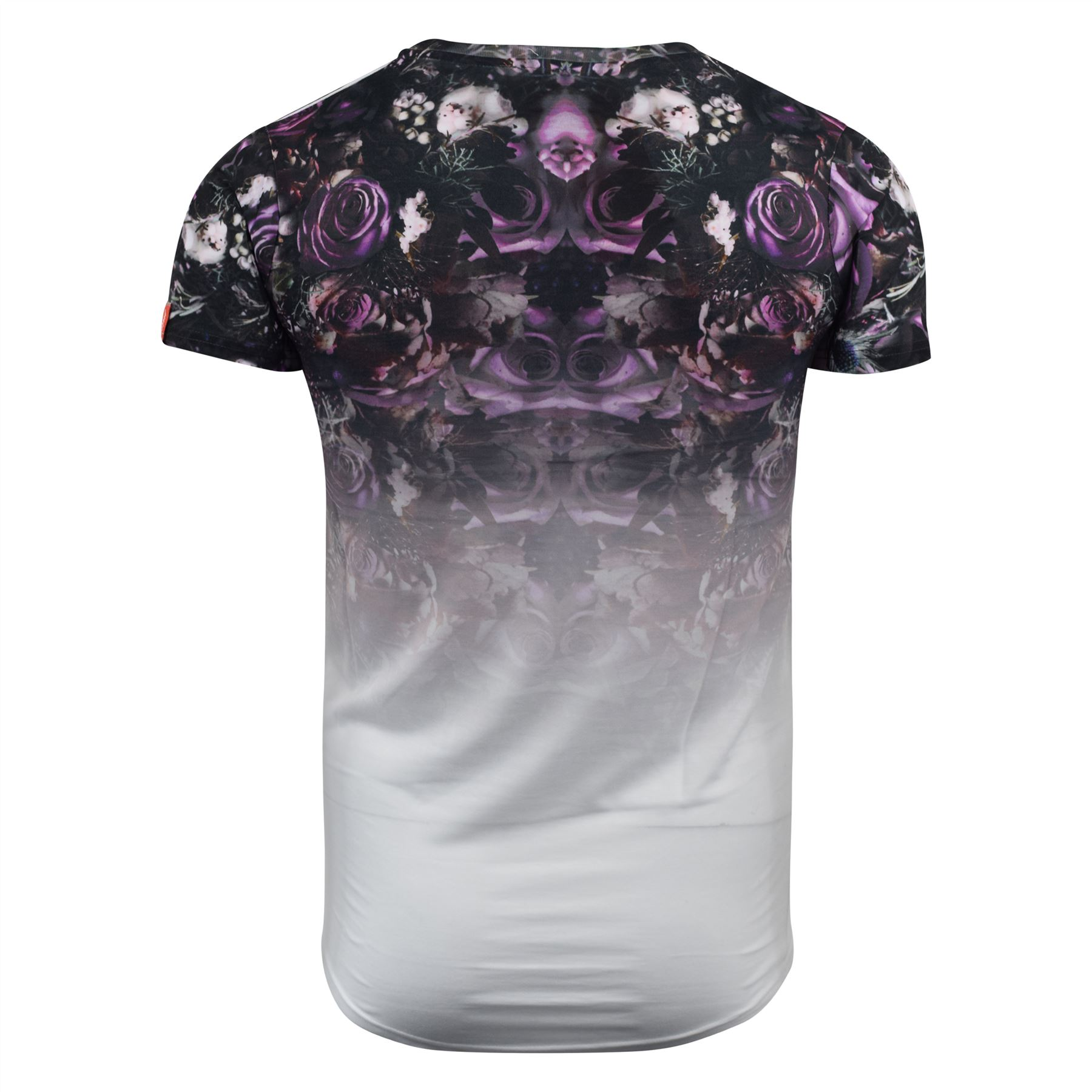 Mens-T-Shirt-Juice-Floral-Print-Flower-Crew-Neck-Tee-Top thumbnail 24